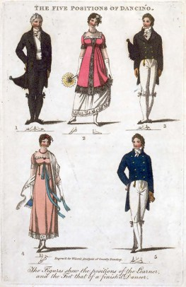 Five Positions of Regency Dancing