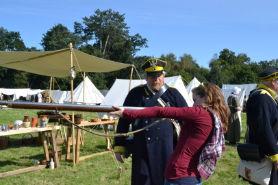 Holding a Musket   Napoleonic Wars   Re-Enactment Historical Research for Authors   Philippa Jane Keyworth
