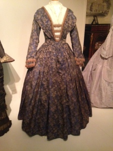 Blue damask Victorian Dress c.1850   Victorian Dress   Philippa Jane Keyworth