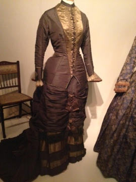 Olive and grey silk Victorian Dress c.1880 | Victorian Dress | Philippa Jane Keyworth