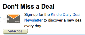 How to sign up to Kindle Daily Deal on Amazon