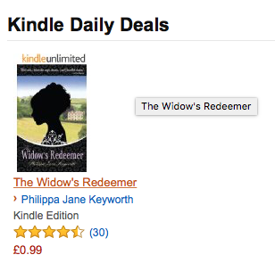 The Widow's Redeemer | Amazon Kindle Daily Deal