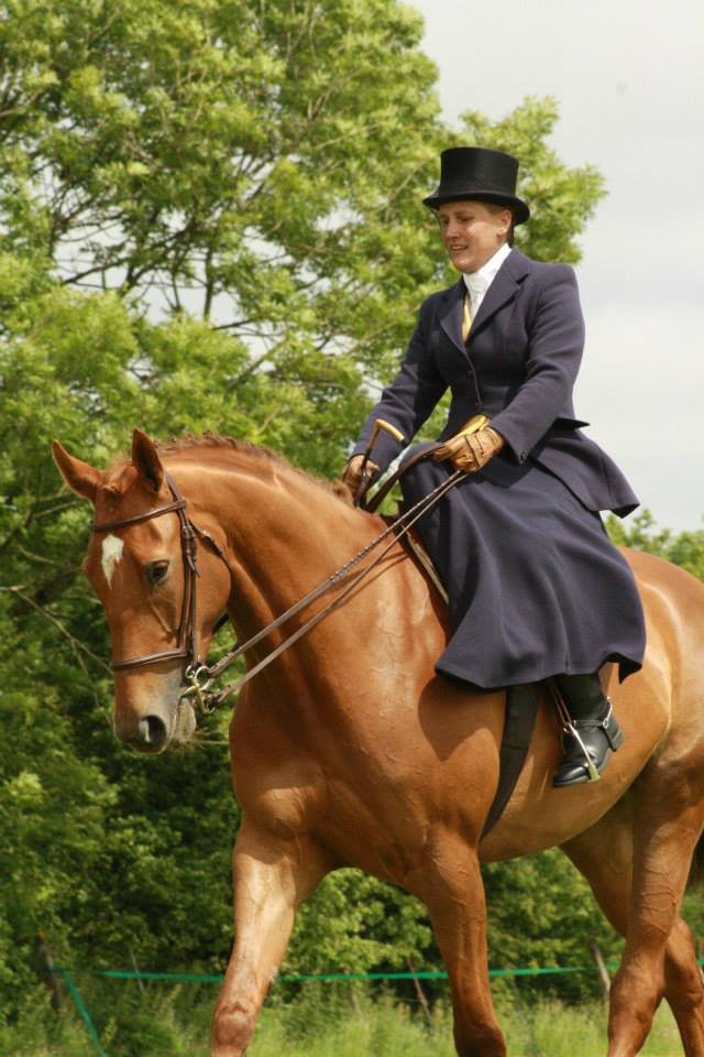 Blue Riding Habit and Top Hat | Riding Aside of Side Saddle | Philippa Jane Keyworth