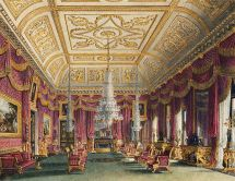 Crimson Drawing Room, by Charles Wild