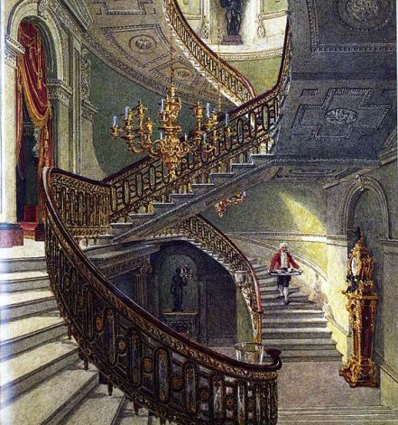 The grand staircase by William Henry Pyne