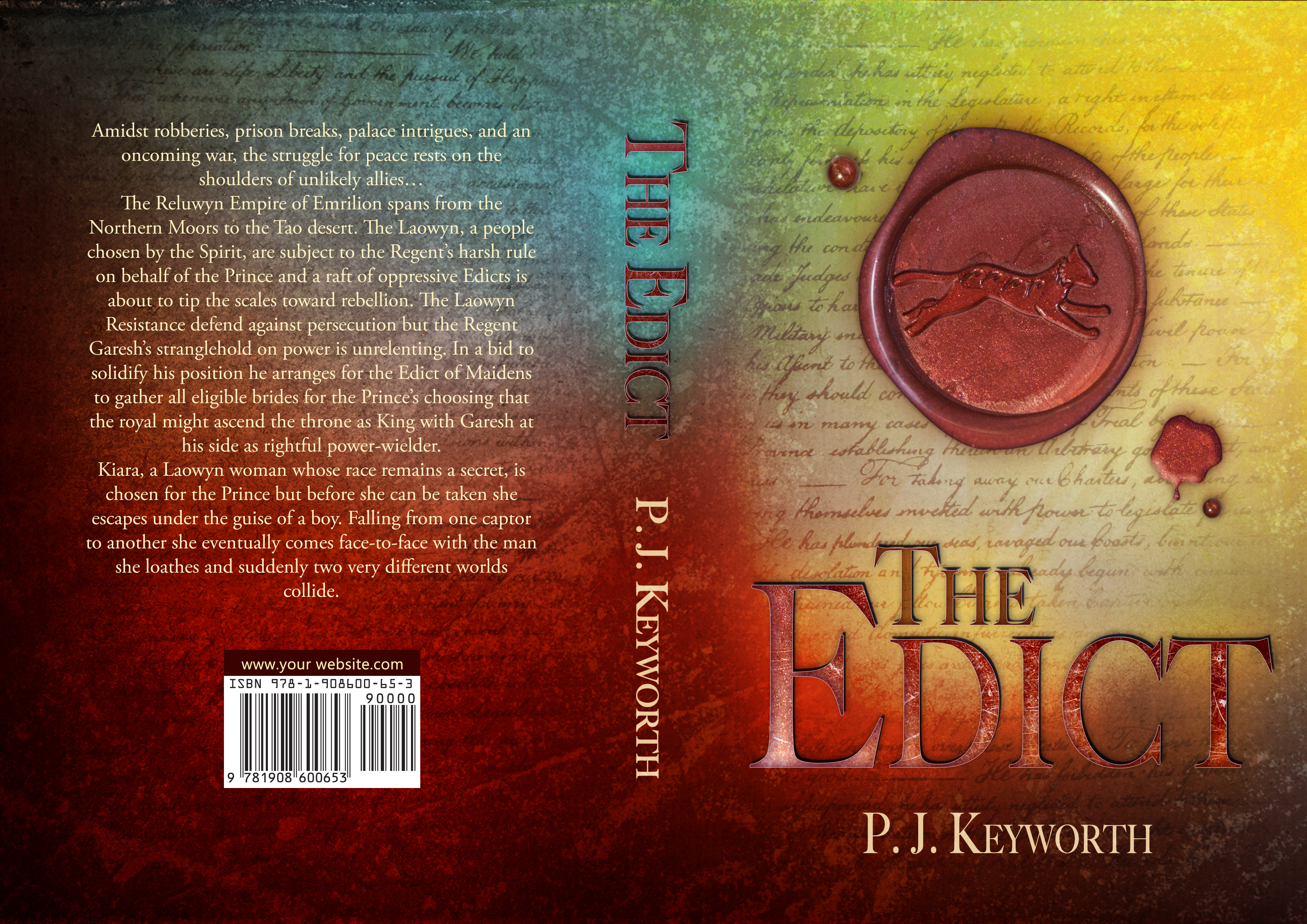 The Edict - Fantasy Book - P. J. Keyworth
